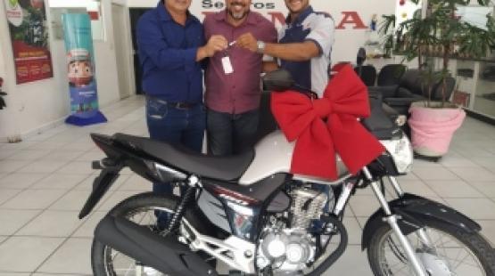 Ganhador do sorteio da motocicleta Honda CG Start 160